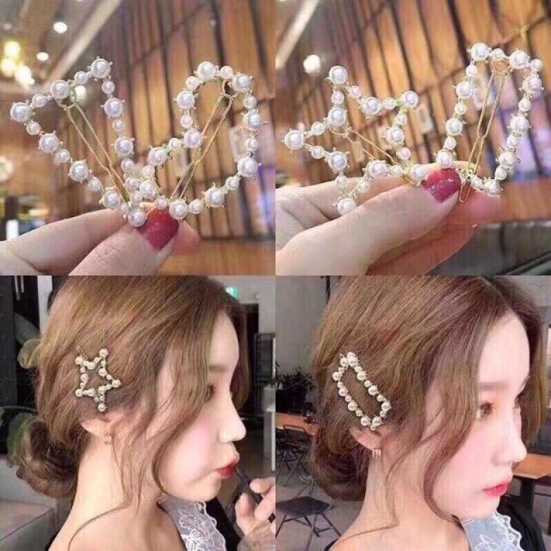 Set 3 Kẹp Mái Đính Đá Hàn Quốc Hot Trend cao cấp