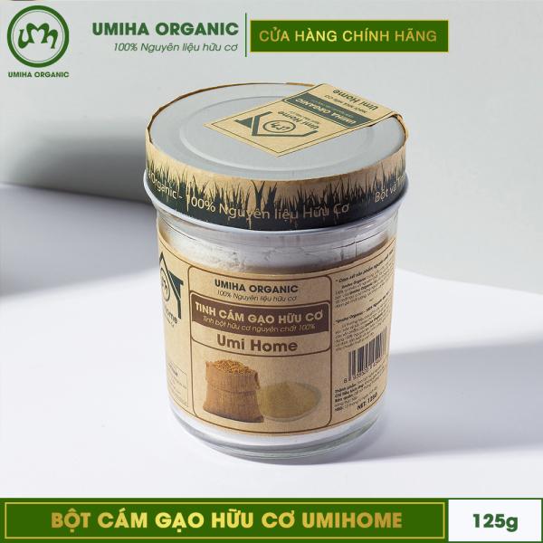 BỘT CÁM GẠO HỮU CƠ UMIHOME 125G nguyên chất làm đẹp thiên nhiên giúp tẩy da chết hiệu quả, dùng đắp mặt trắng da tự nhiên và ngăn ngừa thâm mụn tốt nhất