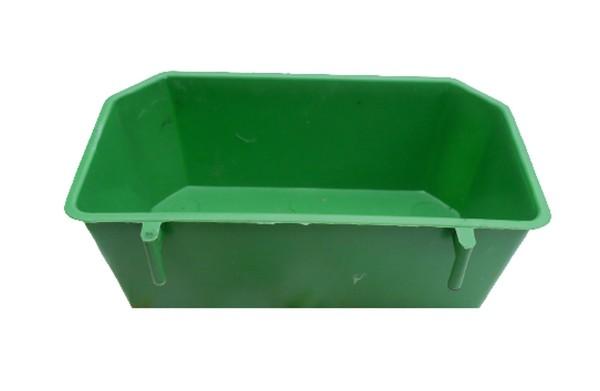 Máng ăn chống vãi cho chim (15x7x6 cm) màu xanh - phụ kiện ăn uống cho thú cưng - bồ câu tín nghĩa