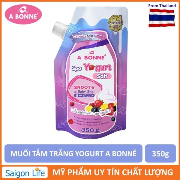 Muối Tắm Trắng và Tẩy Tế Bào Chết A Bonne Spa Yogurt Salt 350g cao cấp