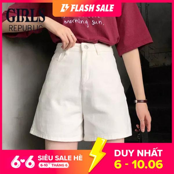 Nơi bán Girls Republic Quần short nữ chất jean kaki dáng rộng thời trang trẻ trung dễ phối đồ