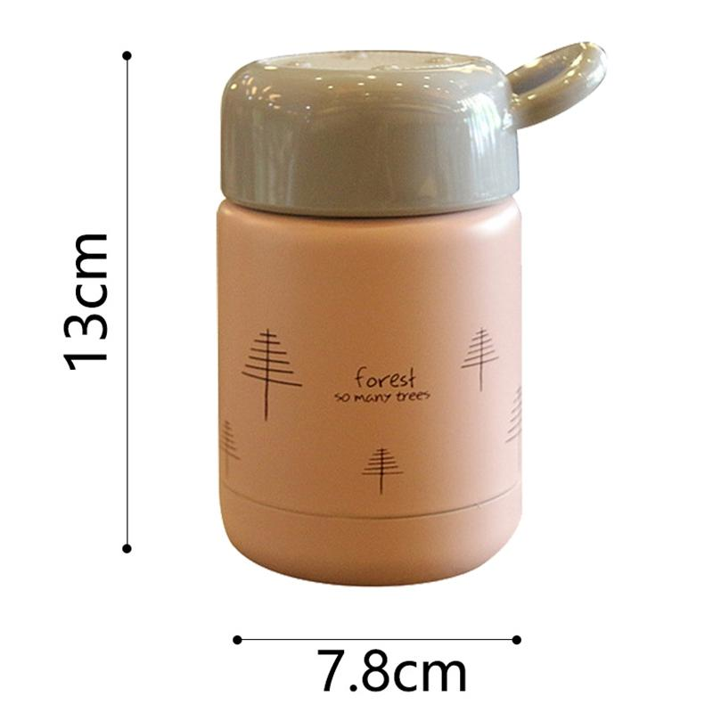 300Ml Vacuum Cup Stainless Steel Student Portable Lunch Female Kitchen Soup Food Bottle Mini Cartoon Container Lunch Box Cute