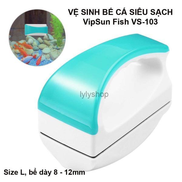 Nam Châm Lau Cọ Rửa Kính Bể Cá Cảnh Mini VipSun Fish Kính Dày 8- 12mm