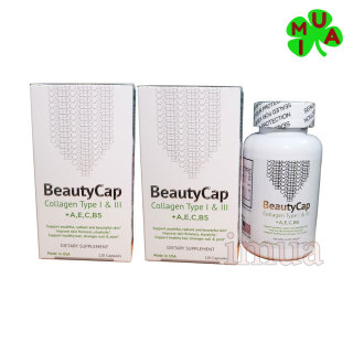 Combo 2 Hộp viên dưỡng trắng da Collagen 12000mg +AECB5 Beauty Cap Mỹ thumbnail