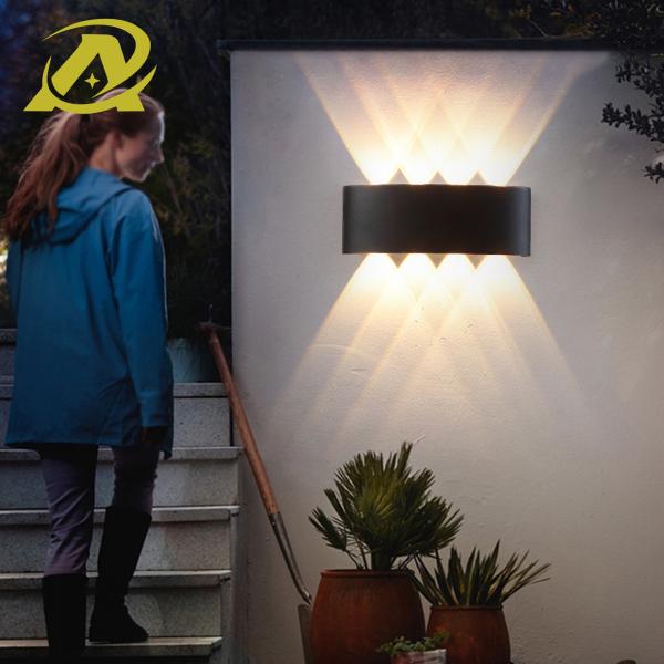 Bảng giá Đèn led tường đơn giản hiện đại Bắc Âu 3 mắt led, 4 mắt led trang trí ban công chống nước ngoài trời phòng tắm hành lang phòng ngủ đầu giường phòng khách 7076
