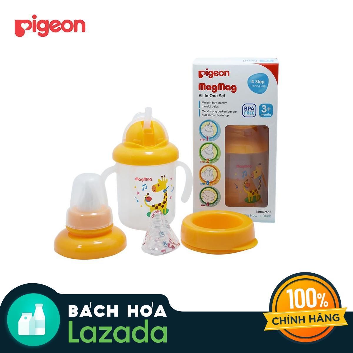 [Siêu thị Lazada] Combo Trọn bộ ly Magmag thương hiệu Pigeon