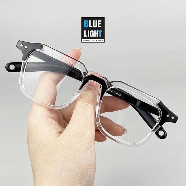 Giá bán Kính Giả Cận, Gọng Kính Cận Nam Nữ Mắt Vuông Cá Tính Nhựa Siêu Nhẹ Không Độ Hàn Quốc - BLUE LIGHT SHOP