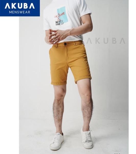 AKUBA Quần Short Nam Kaki Trơn 904