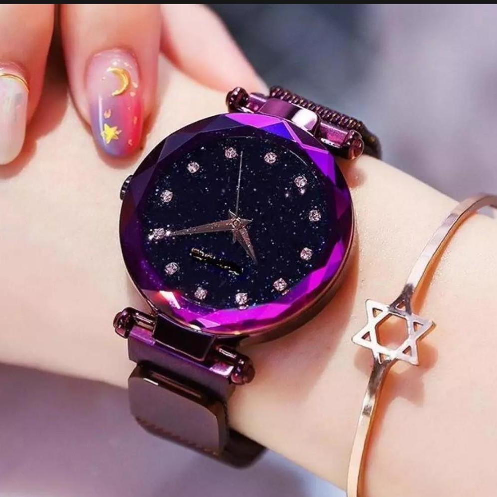 Nơi bán Đồng hồ nữ cao cấp dây kim loại khóa nam châm,đủ màu (tặng kèm pin,tặng kèm lắc tay)