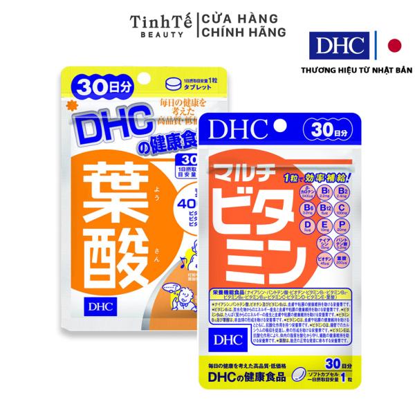 Combo viên uống bổ sung Vitamin DHC 30 ngày dành cho bà bầu viên uống Folic 30 ngày và viên uống tổng hợp 30 ngày