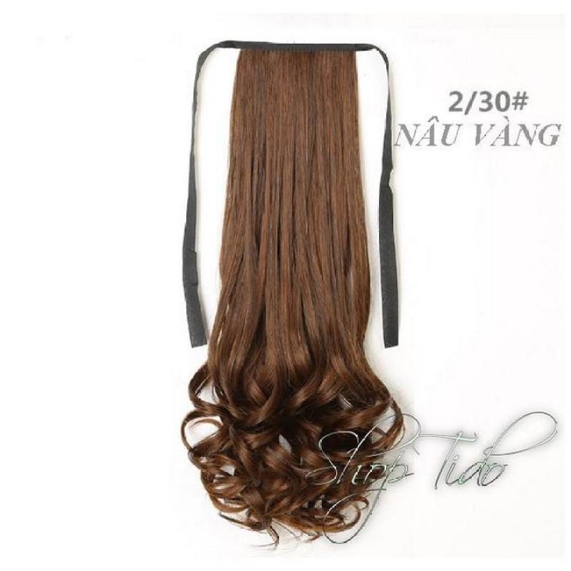 Tóc Cột Xoắn Đuôi Cao Cấp 2/30 (nâu vàng) 58cm nhập khẩu