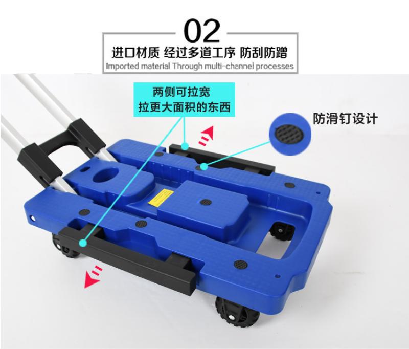 Xe kéo hàng, kéo hành lý gấp gọn du lịch chịu tải 200kg Hàng nhập khẩu giá rẻ