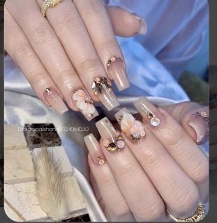 FREESHIP +QUÀ TẶNG) Bộ 24 Móng tay giả giá rẻ nail thiết kế nailbox Móng úp ta (kèm keo và dũa) thumbnail