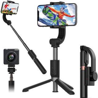 Gậy chụp ảnh Gimbal L08 chống rung quay Video chuyển động cho Livestreamer vloger chuyên nghiệp - Gimbal L08 Tripod 3 chân chắc chắn, xoay 360 độ, Dành Cho Điện Thoại Thông Minh, gập gọn nhỏ nhẹ nhất PIN dùng liên tục trong 8H Shop Khánh Sky thumbnail