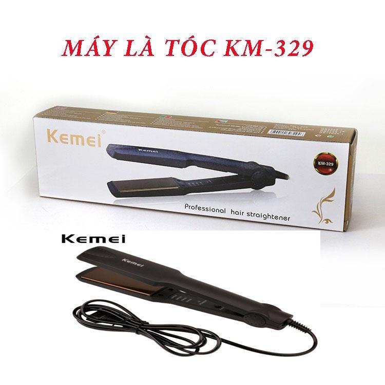 Máy là tóc, máy duỗi tóc, máy làm thẳng tóc đa năng 4 mức chỉnh nhiệt Kemei KM- 329 tạo kiểu tóc Mini, máy ép tóc mini, máy làm tóc mini, máy ép thẳng tóc