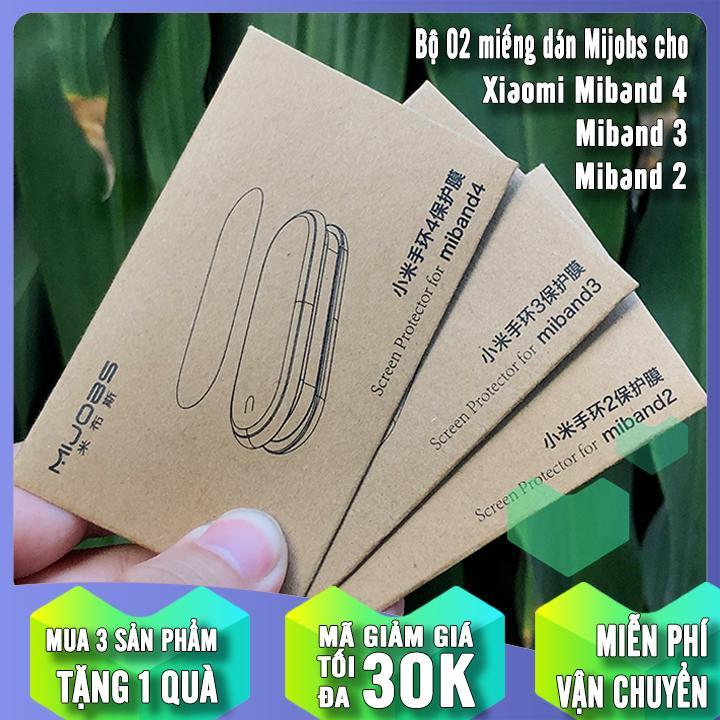 Bộ 2 Miếng Dán Màn Hình Trong Suốt Cho Xiaomi Miband 2 - 3 - 4 Mijobs, Thiết Kế Nhỏ Gọn Tiện Dụng