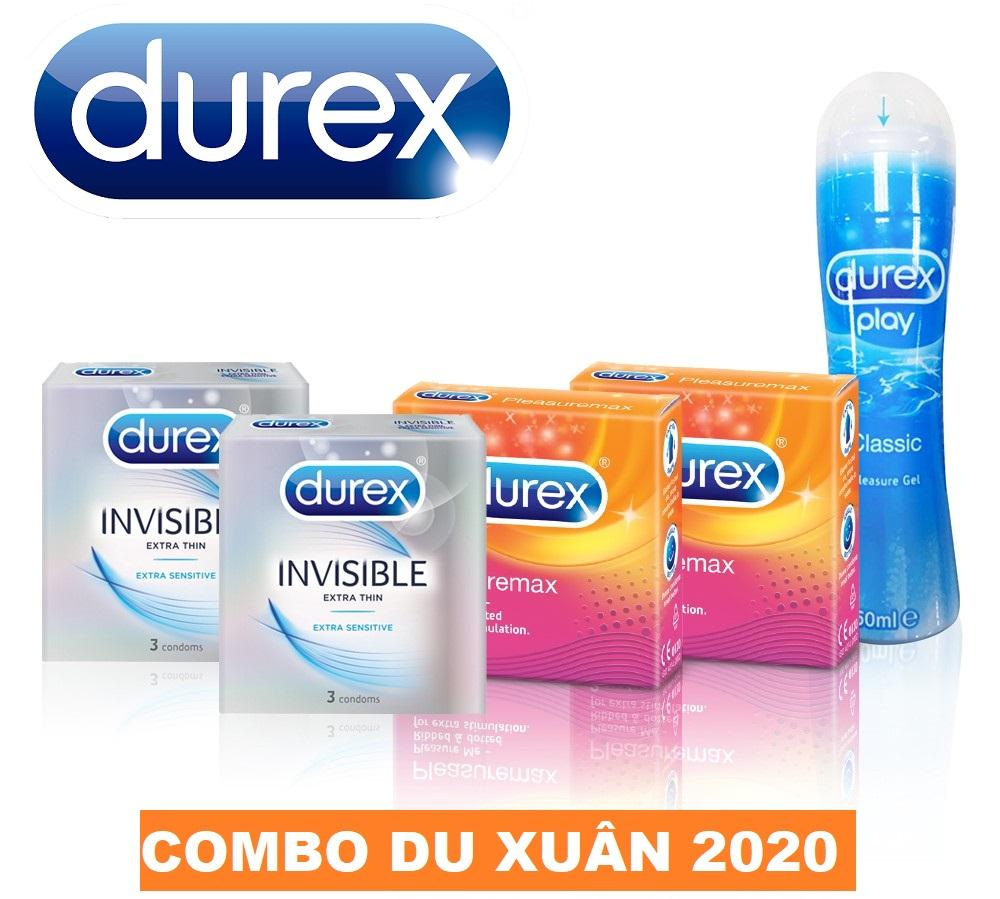 Combo 1 Gel Bôi Trơn Durex Play Classic 50ml (Thái Lan) kèm 4 hộp BCS Durex (Thái Lan) nhập khẩu
