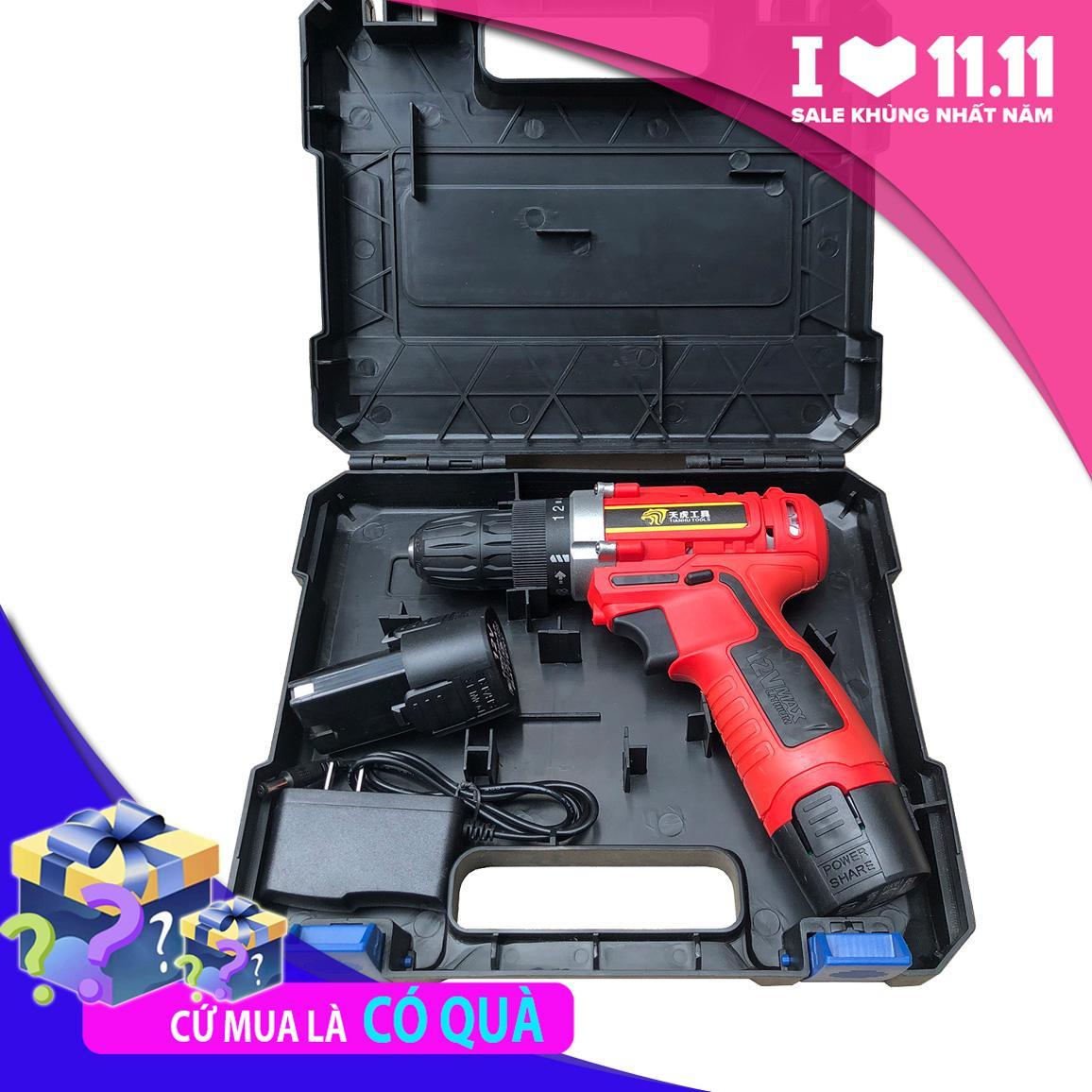 Máy khoan pin Tianhu tools 380w - 2 pin - máy khoan Siêu khỏe, máy khoan siêu rẻ