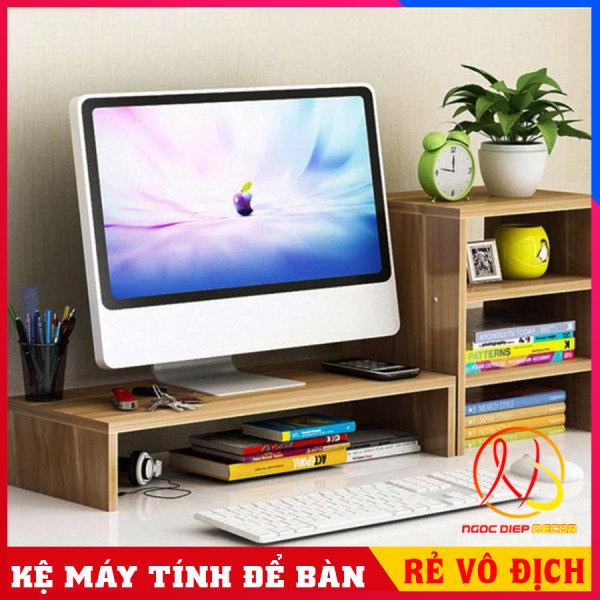Bảng giá Kệ gỗ để màn hình máy tính, laptop nâng cao màn hình chống gù lưng, chống đau vai, kệ máy tính để bàn có hộc để tài liệu Phong Vũ