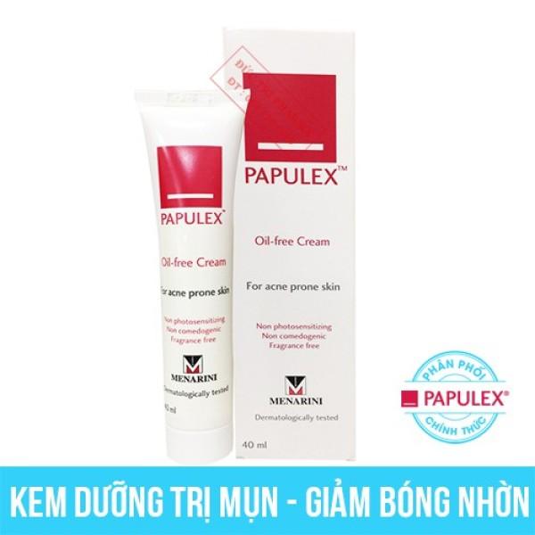 Kem giảm bóng nhờn - mụn papulex oil-free cream 40ml, cam kết hàng đúng mô tả, chất lượng đảm bảo an toàn đến sức khỏe người sử dụng