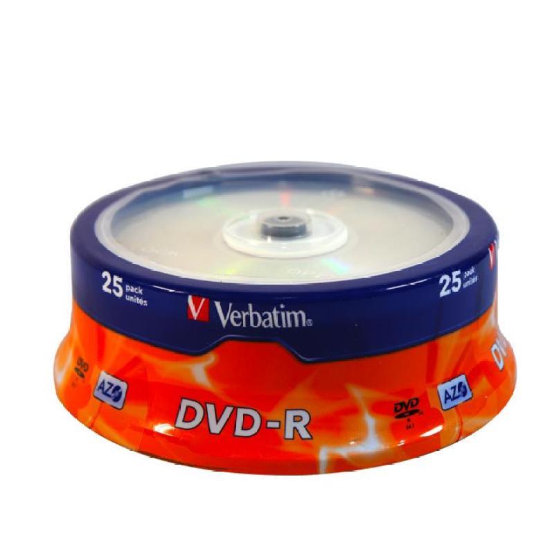 Bảng giá Đĩa dvd trắng ,Đĩa trắng DVD Verbatim bánh xe 1 lốc 25 cái 4.7G hộp box Phong Vũ
