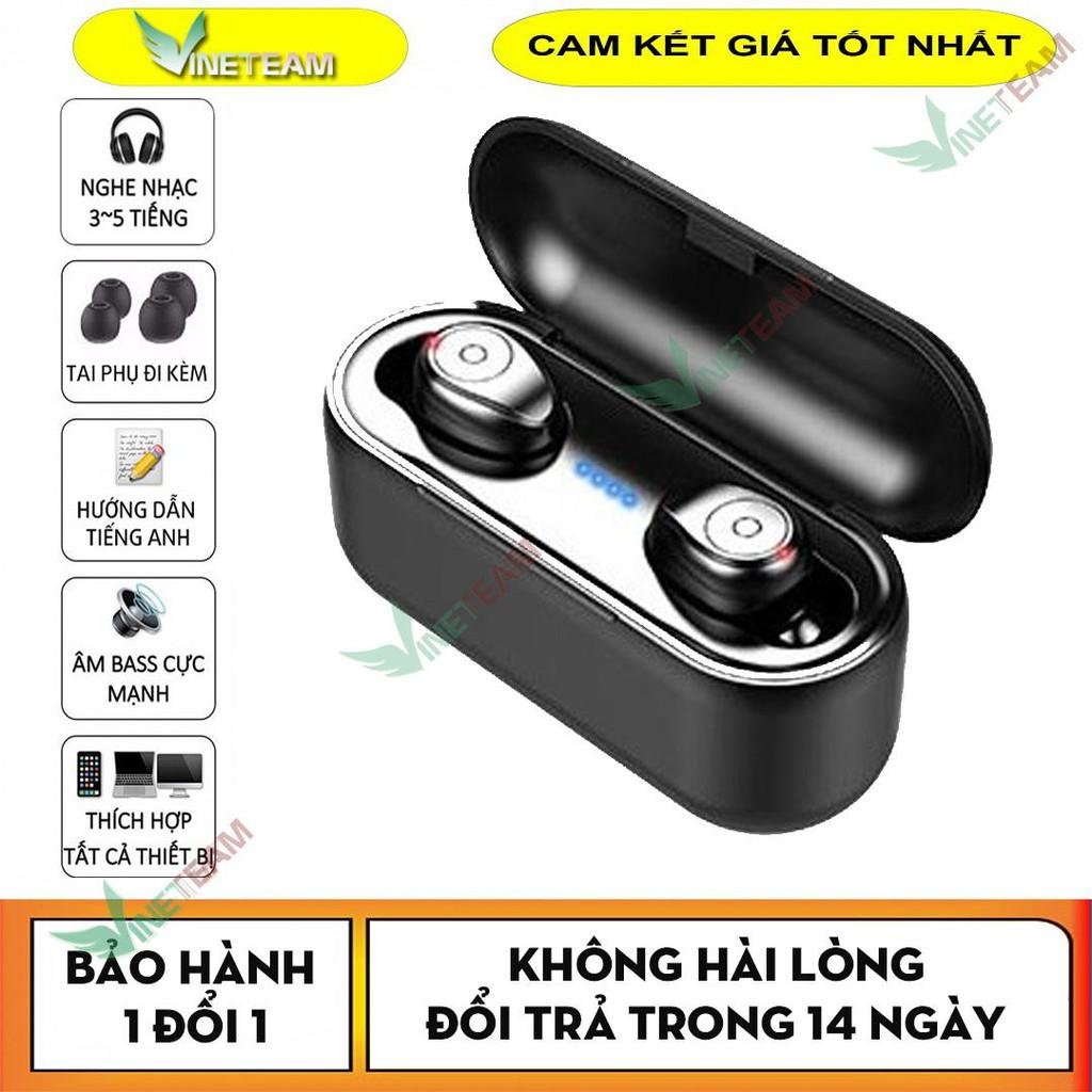 [Nhập ELMAR31 giảm 10% tối đa 200k đơn từ 99k]Tai Nghe Bluetooth Tws F9 Bản Quốc Tế True Wireless Không Dây Nút Cảm Ứng Kháng Nước Thể Thao Stereo
