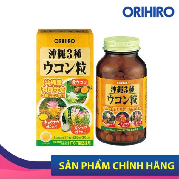 Viên uống nghệ 3 mùa Okinawa Orihiro 420 viên