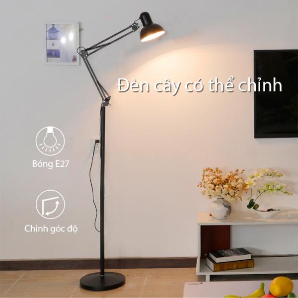Đèn cây đứng thiết kế mới sang trọng trang trí phòng khách - Hàng Chuẩn Cao Cấp