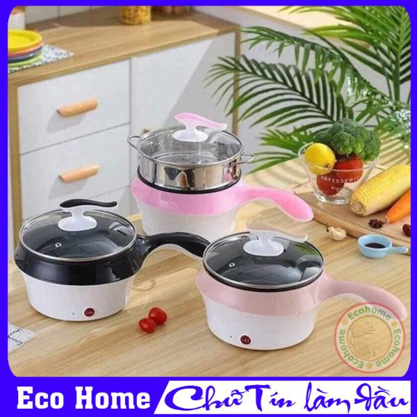 NỒI LẨU ĐIỆN MINI 2 TẦNG KÈM XỬNG HẤP- BẢO HÀNH 3 THÁNG - Nồi lẩu điện đa năng mini, Nồi lẩu mini đa năng, Nồi lẩu điện mini, Ca nấu mì mini 2 tầng kèm xửng hấp, Nồi lẩu điện mini 2 in 1 - Eco Home