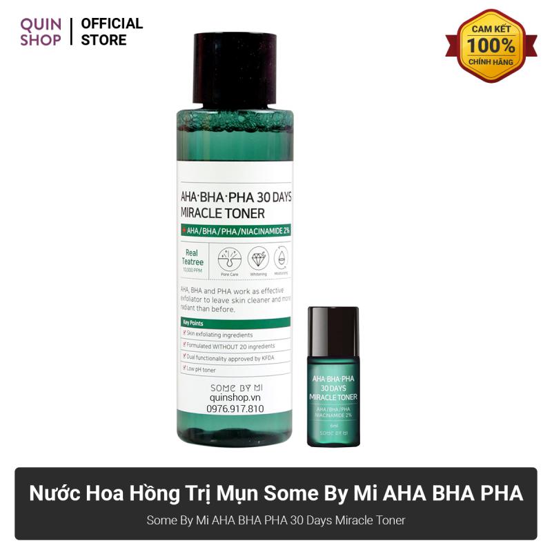 Nước Hoa Hồng Ngăn Ngừa Mụn Some By Mi AHA BHA PHA 30 Days Miracle Toner