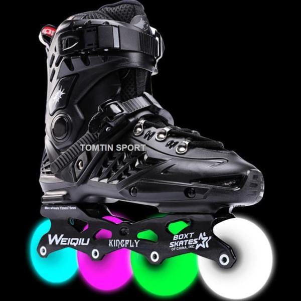 Giá bán Giày patin cao cấp 8 bánh phát sáng Weiqui Kingfly có size từ 38-44 cho thanh niên và người lớn [TOMTIN SPORT]