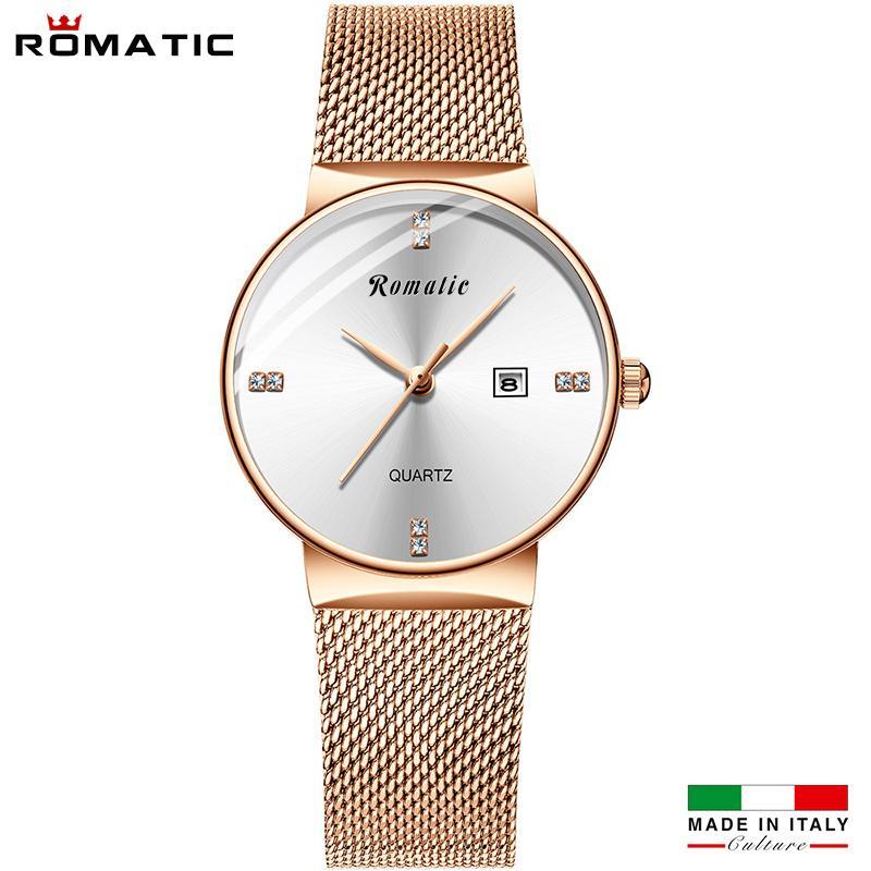 (MẪU MỚI) ĐỒNG HỒ NỮ ROMATIC ITALIA - DÂY TITANIUM SANG TRỌNG + TẶNG HỘP & PIN bán chạy