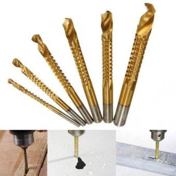 Bộ 6 chiếc mũi khoan cưa gỗ,nhựa, mica, nhôm, đồng, sắt mỏng 3-8mm phủ titan ( Premium Home )
