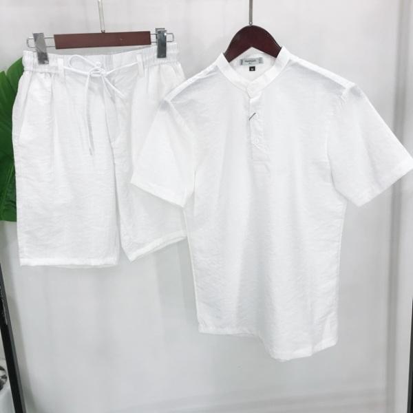 Nơi bán Bộ đũi nam cộc tay cổ tàu, chất đũi Thái, form chuẩn mặc mát lạnh, thoáng mát thấm hút mồ hôi
