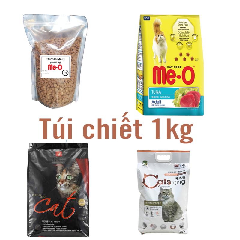(Chiết 1kg) 3 loại Cats Eye và Catsrang- Thức ăn mèo Hàn Quốc  - Me-o cá ngừ Thức ăn viên cao cấp cho mèo mọi lứa tuổi - CATSEYE / CAT EYE / CATSEYE