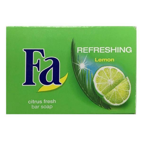Bộ 2 Xà bông FA Refreshing Lemon Bar Soap 90g- Hương Chanh