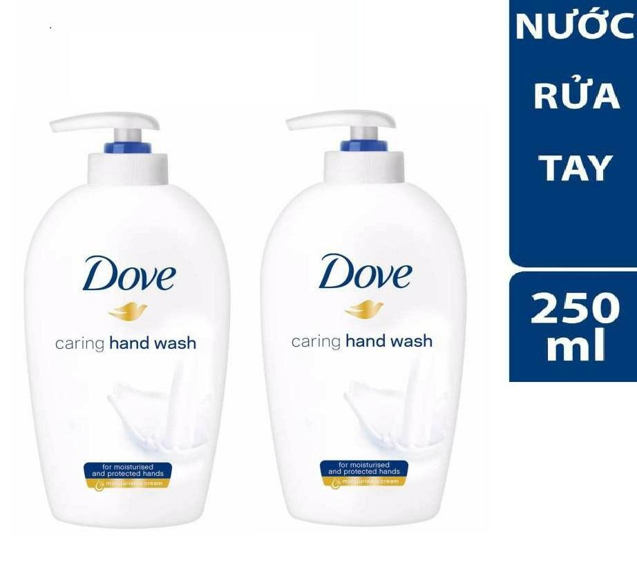 Combo 2 chai Nước Rửa Tay Dove Mềm Mịn Tự Nhiên 250ml
