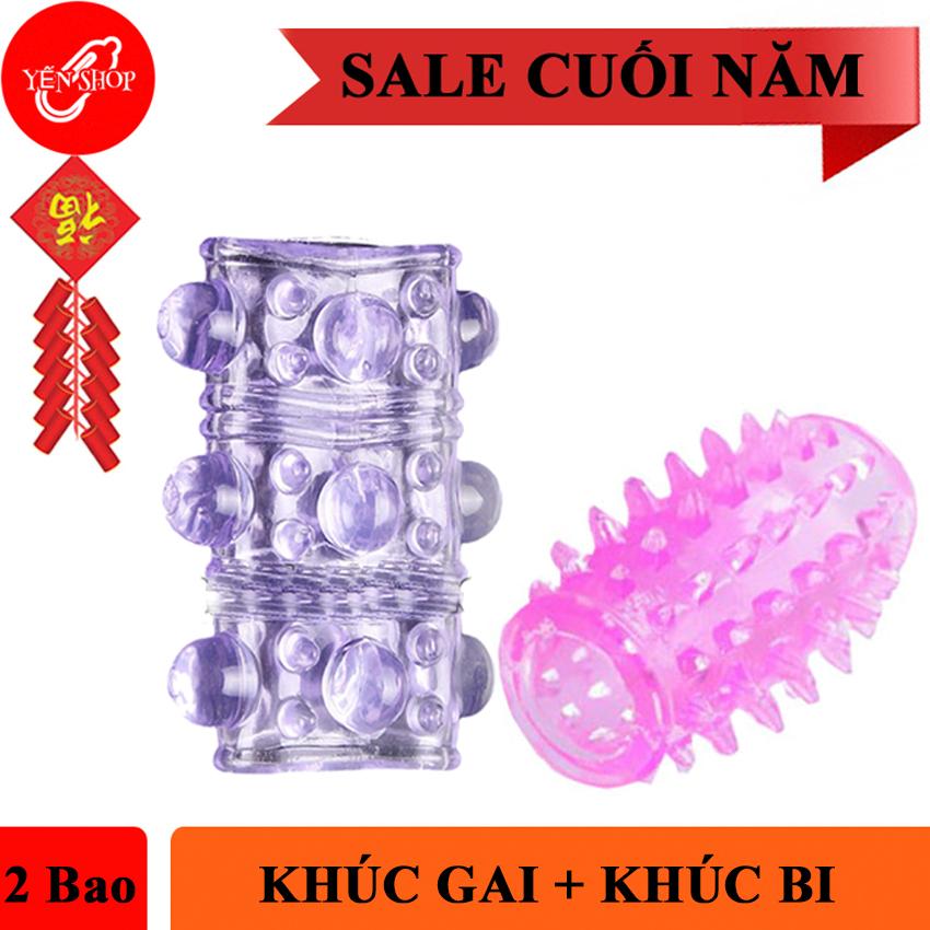 Combo bao cao su Đôn Dên khúc gai và bao cao su khúc bi tăng kích thước, kéo dài thời gian với gai to và bi to nhập khẩu