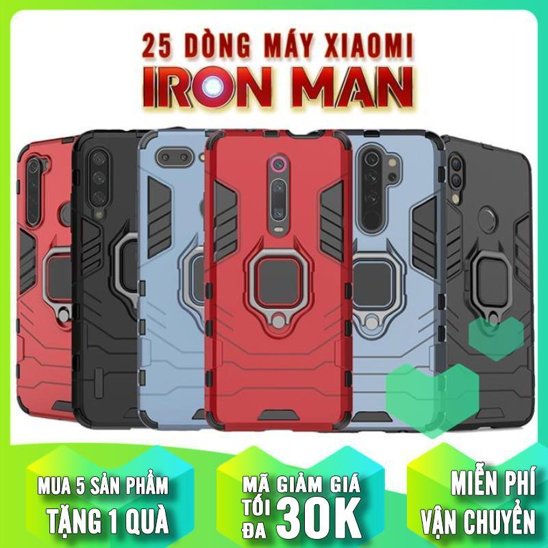 Giá Ốp lưng iRON - MAN IRING Nhựa PC cứng viền dẻo chống sốc cho các Dòng Máy Xiaomi Redmi Note 8 Pro-8-7-6Pro-5Pro-Redmi 5 Plus-Note4X-Redmi K20-K30- Mi 9-9SE-9Lite-8Lite-8Pro-8SE-MiA2-MiA1-Mi Note 10- Redmi Note 9S - Note 9 Pro