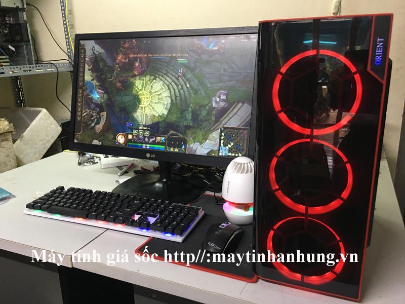 Bộ máy tính chơi Game i5 2400, Ram 8G, ổ điện tử SSD, Màn hình 24 inch Full HD (Trọn bộ CPU, Màn hình siêu nét tặng bộ bàn phím, chuột led giả cơ + 1 USB wifi tự động kết nối mạng