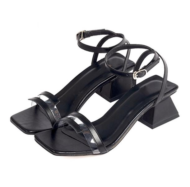 S55-Sandal nữ quai ngang phối mica đế 5cm thời trang cao cấp giá rẻ