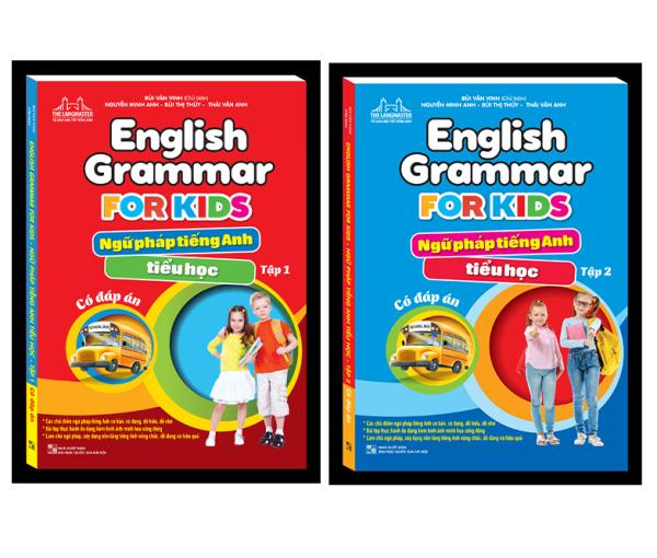 Combo ngữ pháp tiếng anh tiểu học tập 1 + tập 2 (2 cuốn)