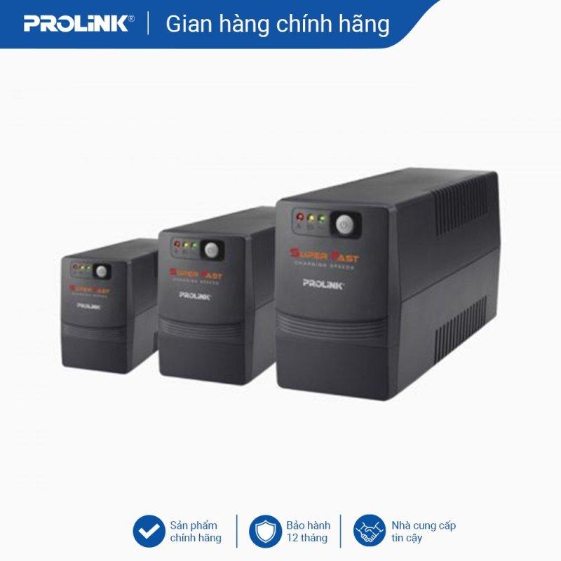 Bảng giá Bộ nguồn cấp điện liên tục PROLiNK 850VA Line tích hợp bộ AVR, sạc siêu nhanh, điện áp đầu vào rộng, tương thích với nhiều loại thiết bị Phong Vũ