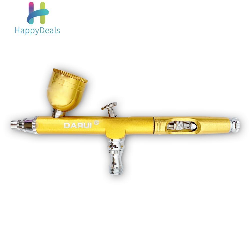 happydealsĐầu Phun 0.3mm Xịt Bơm Phun Sơn Móng Tay Nghệ Thuật Sơn Dụng Cụ Xịt Dụng Cụ (Vàng) (Vàng)