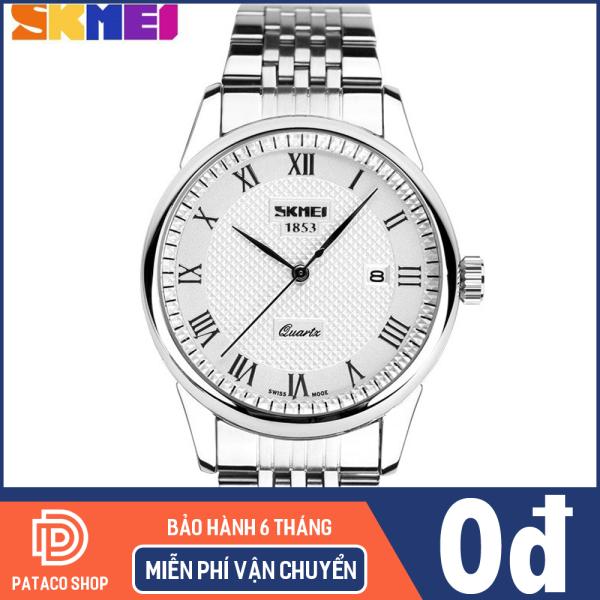 Nơi bán Đồng hồ nam dây thép không gỉ Skmei 9058 chống nước 30m máy chạy 3 kim,hiển thị lịch ngày tự động bảo hành 12 tháng
