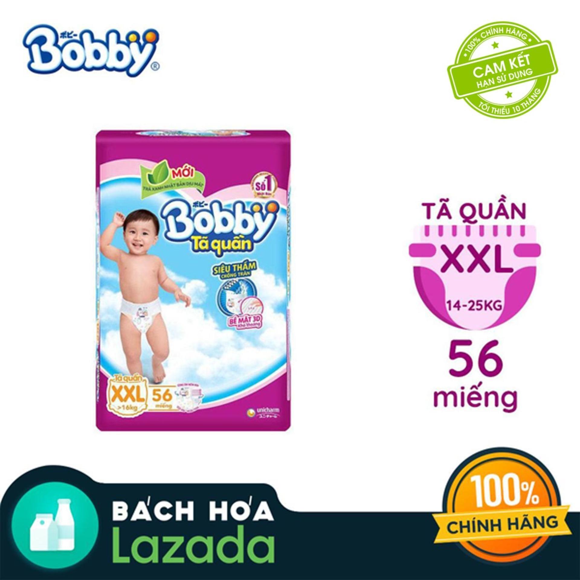 [Tiết Kiệm] Tã/Bỉm quần Bobby gói siêu siêu lớn XXL-56...