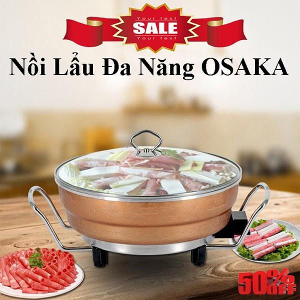 Nồi & Bếp lẩu đa năng, Nồi lẩu đa năng OSAKA Nhật Bản loại 1 | Minh Tuấn Store bảo hành 1 năm 1 đổi 1