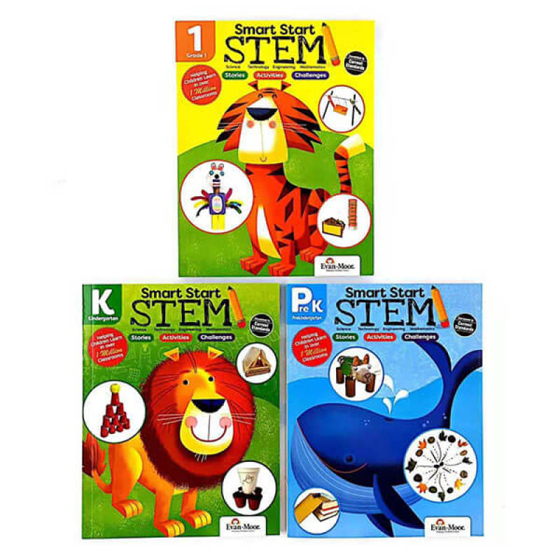 Bộ Sách Smart Start Stem- 3 Cuốn-Sách Bản Gốc, Chất Lượng Tốt- Childrens books
