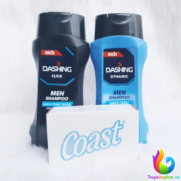 Dầu Gội Sạch Gàu Cho Nam Giới Dashing Dynamic Men Shampoo 180g tặng Xà Bông Cục Coast giá rẻ