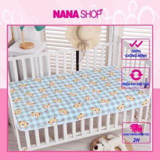 Tấm lót chống thấm trải giường MUJI 3 lớp cho bé size to 100x150cm thumbnail